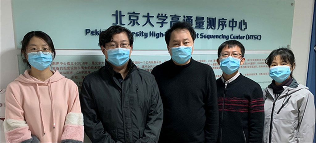 Image: Sunney Xie (in the middle) and some members of his team (Photo courtesy of Peking University)