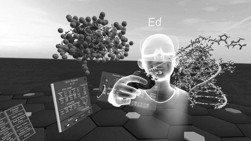 Image: Scientists Use Virtual Reality to Refine New AI-Generated Drugs for COVID-19 (Photo courtesy of Nanome, Inc.)