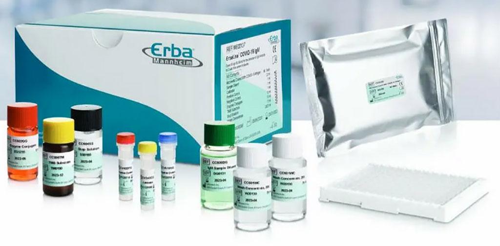 Image: ErbaLisa COVID-19 IgM ELISA kit (Photo courtesy of Erba Mannheim)
