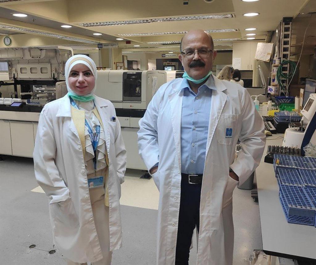 Image: Prof. Higazi and lab manager Suhair Abdee (Photo courtesy of Hadassah-University Medical Center)