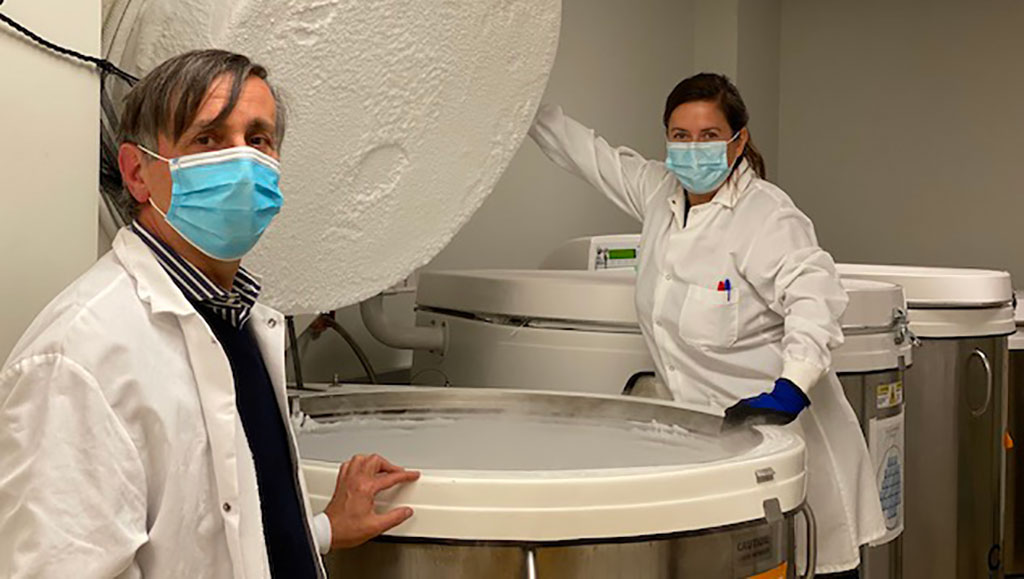 Image: Dr. Alessandro Sette and Dr. Daniela Weiskopf (Photo curtesy of La Jolla Institute for Immunology)