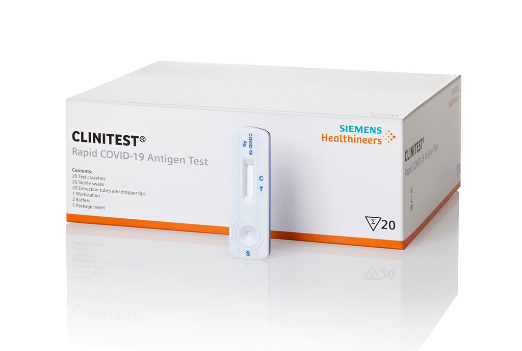 Image: CLINITEST Rapid COVID-19 Antigen Test (Photo courtesy of Siemens Healthineers)