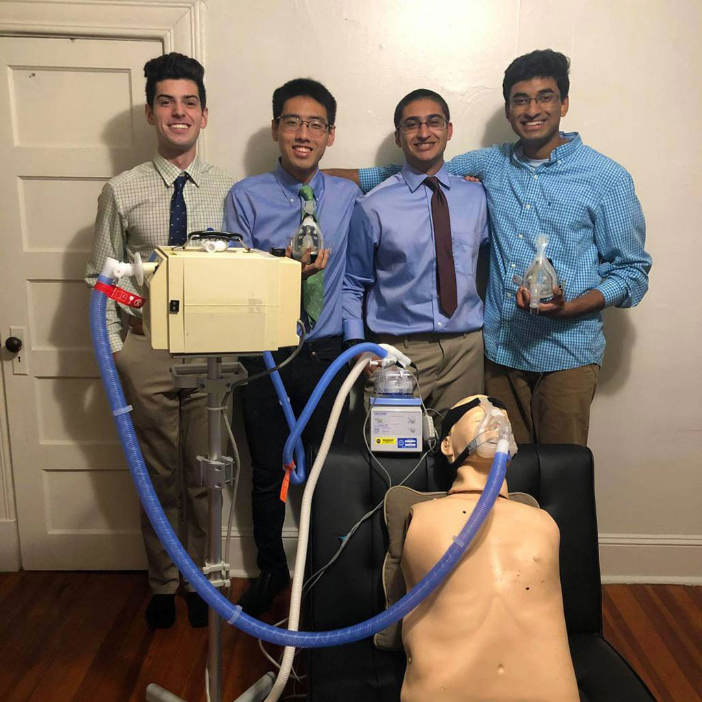 Image: A group of six third-year undergraduate students at Johns Hopkins University designed the leak-proof mask that could be used with common CPAP machines to support the treatment of COVID-19 patients (Photo courtesy of Team Airtight)