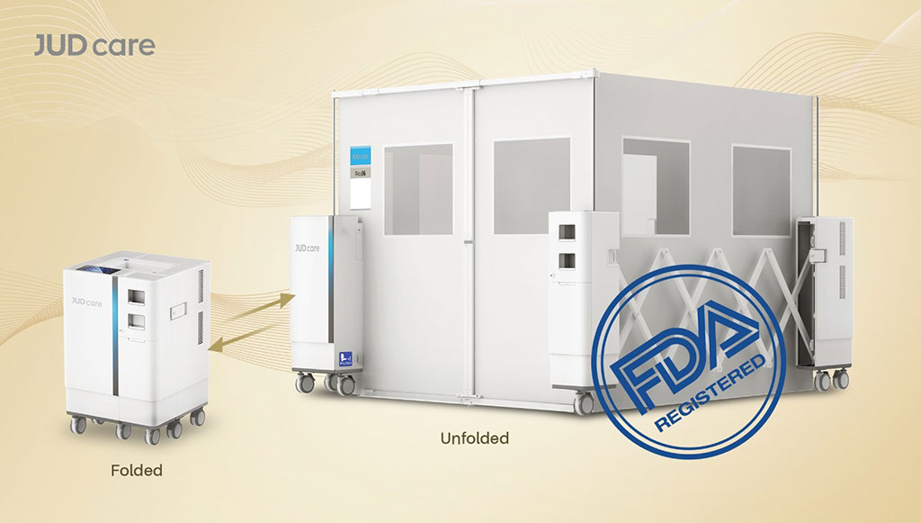 Image: A portable negative pressure isolation room (Photo courtesy of JUD care)