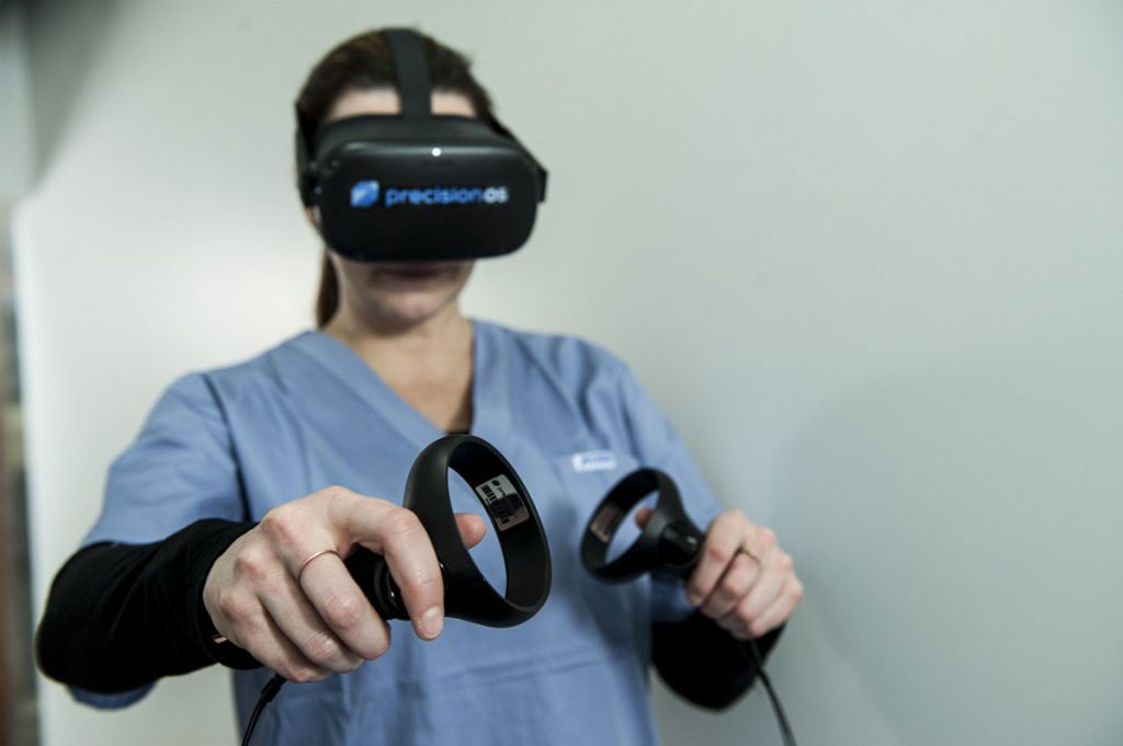 Image: Immersive VR can help improve surgical skills (Photo courtesy of PrecisionOS)