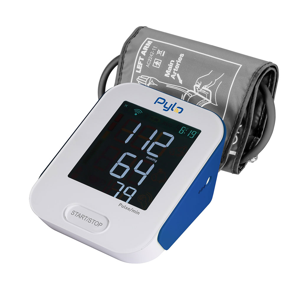 Image: The 802-LTE Cellular Blood Pressure Monitor (Photo courtesy of Pylo Health)