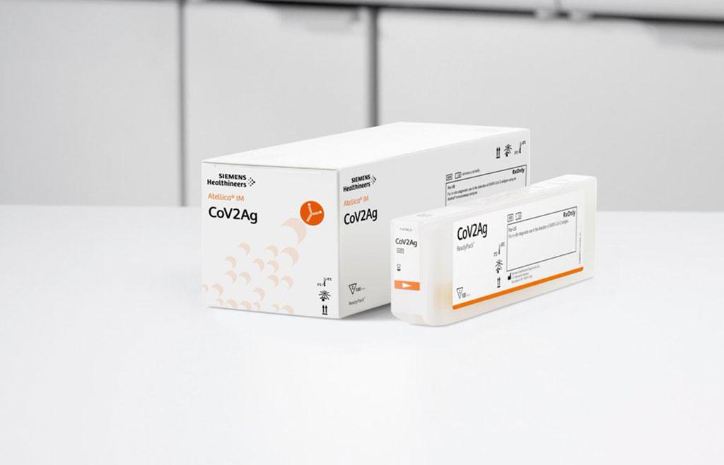 Image: Atellica COVAg test (Photo courtesy of Siemens Healthineers)