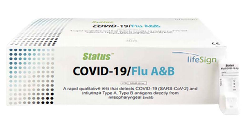 Image: Status COVID-19/Flu A&B Combo Test (Photo courtesy of LifeSign LLC)