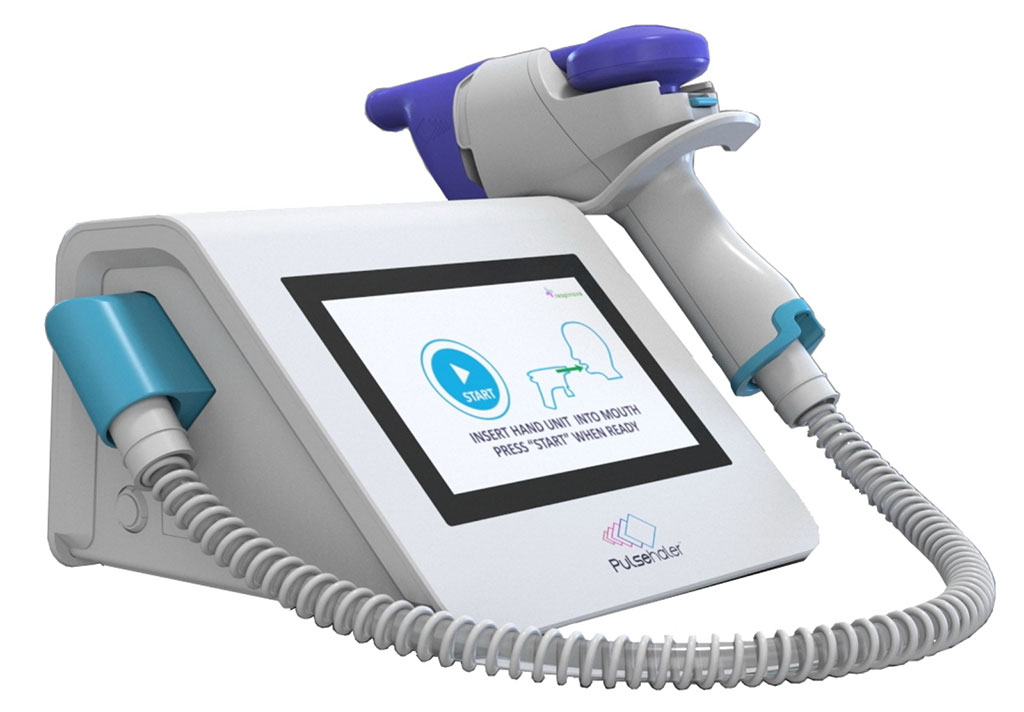 Image: The Pulsehaler non-invasive device respiration device (Photo courtesy of Respinova)