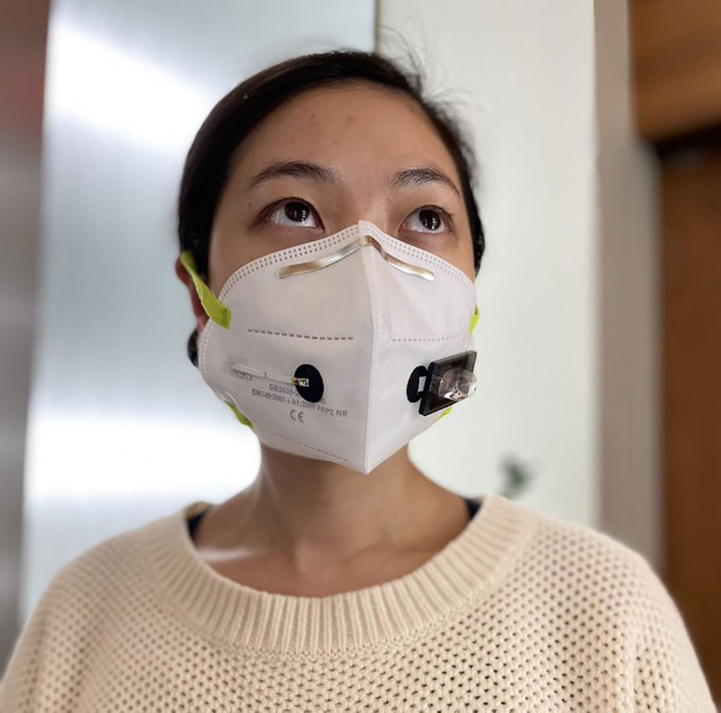 Image: Face Mask with Wearable Biosensors Accurately Diagnoses COVID-19 within 90 Minutes (Photo courtesy of Wyss Institute at Harvard University)