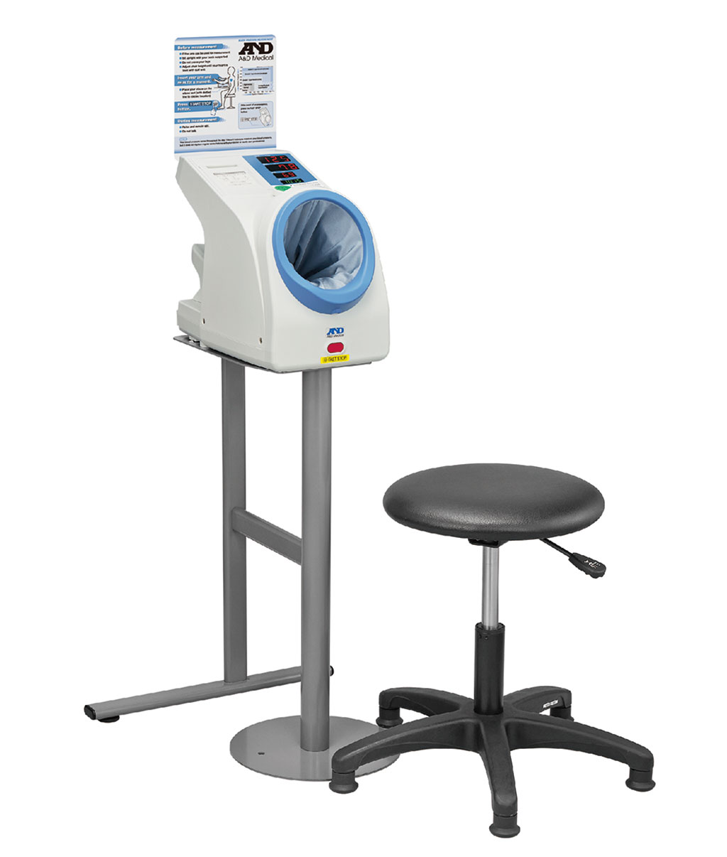 The TM-2657P automatic oscillometric BP device for waiting rooms (Photo courtesy of A&D)
