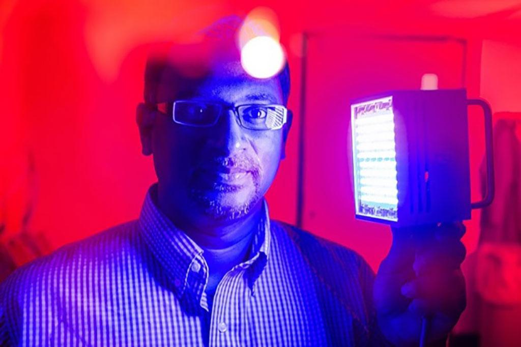 Image: Dr. Praveen Arany, developer of the UB PBM protocol for burn therapy (Photo courtesy of Douglas Levere/UB)