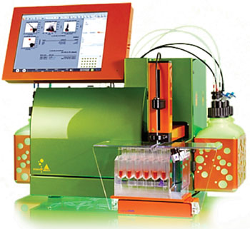 Проточный цитометр MACSQuant – анализатор, разработанный компанией Miltenyi (фото любезно предоставлено компанией MILTENYI BIOTEC).