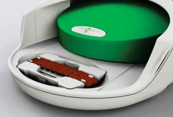 Image: The QX100 Droplet digital PCR reader (Photo courtesy of Bio-Rad).