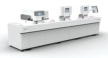 Image: The CAL 8000 hematology automation line consisting of the BC-6800 and SC-120 (Photo courtesy of Mindray).