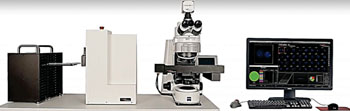Image: The Metafer Vslide scanning system connected to a Zeiss microscope (Photo courtesy of MetaSystems).