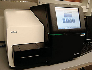 Image: The MiSeq desktop sequencer for genome sequencing (Photo courtesy of Illumina).