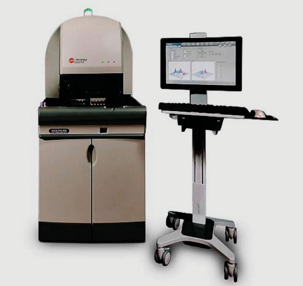 Image: The UniCel DxH 800 Coulter Cellular Analysis System (Photo courtesy of Beckman Coulter).