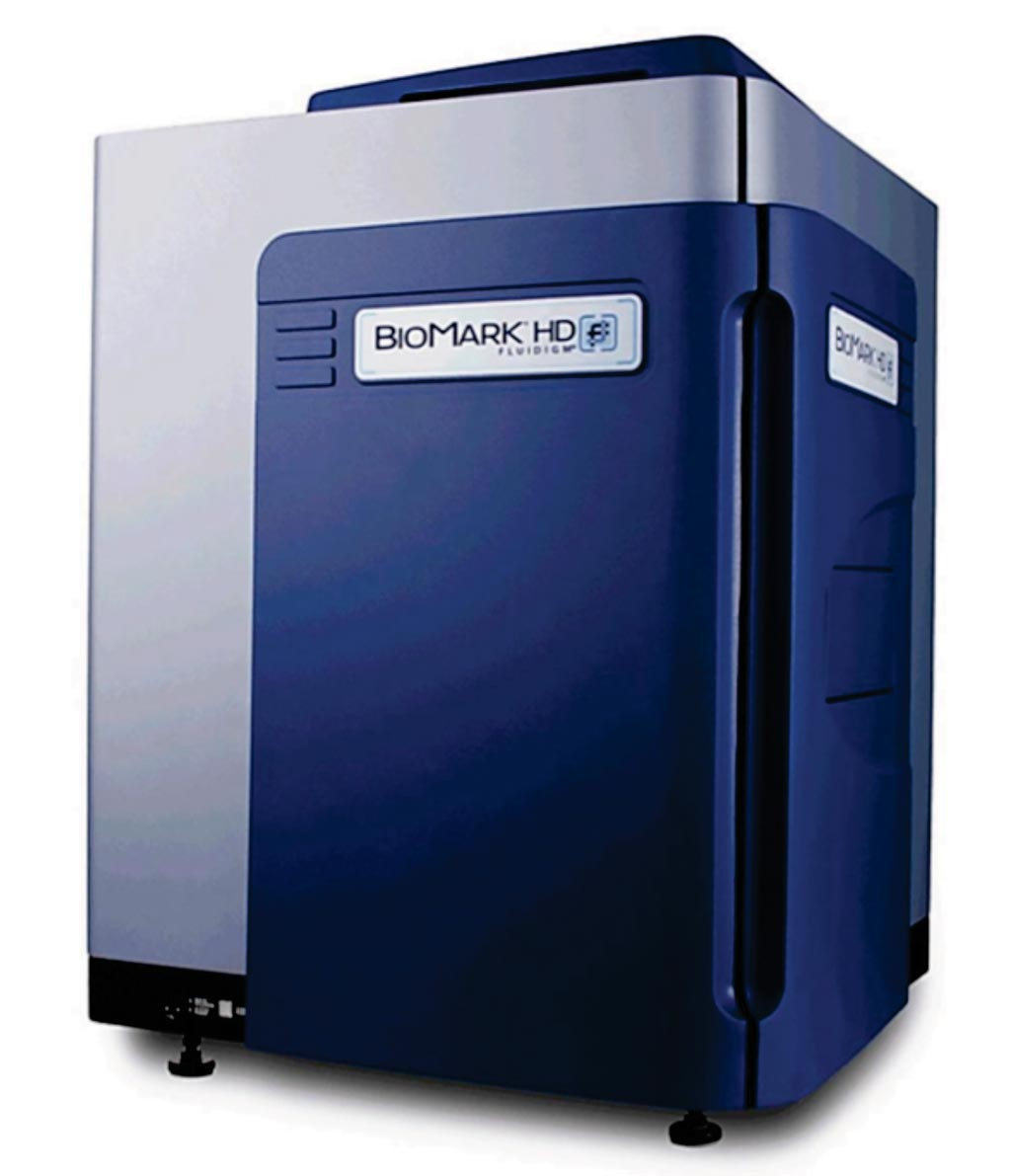 Image: The Biomark microfluidic system for polymerase chain reactions (Photo courtesy of Fluidigm).
