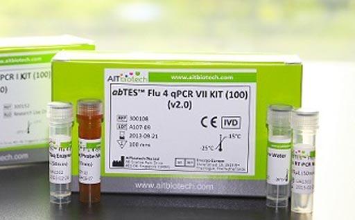 Image: The abTES Flu 4 qPCR VII test kit (Photo courtesy of AITbiotech).