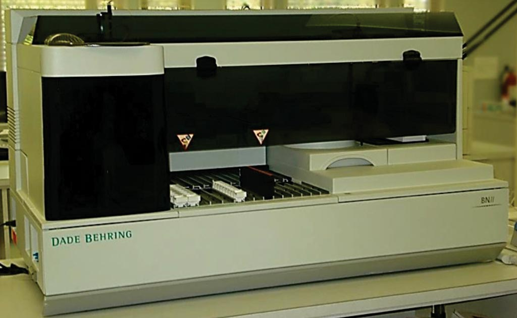 Image: The Dade Behring BN II automated nephelometer system (Photo courtesy of Siemens Healthcare).
