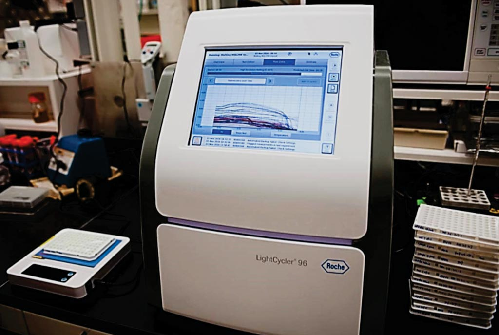 Image: The instrument used for the In-DX panel for rapidly detecting bacteria (Photo courtesy of G.L. Kohuth, Michigan State University).