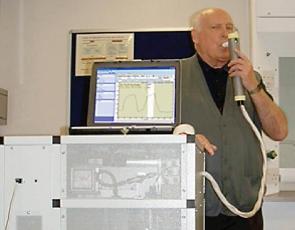 Image: Selected-ion flow-tube mass spectrometry (SIFT-MS) is a quantitative mass spectrometry technique for trace gas analysis of breath samples (Photo courtesy of Trans Spectra Limited).