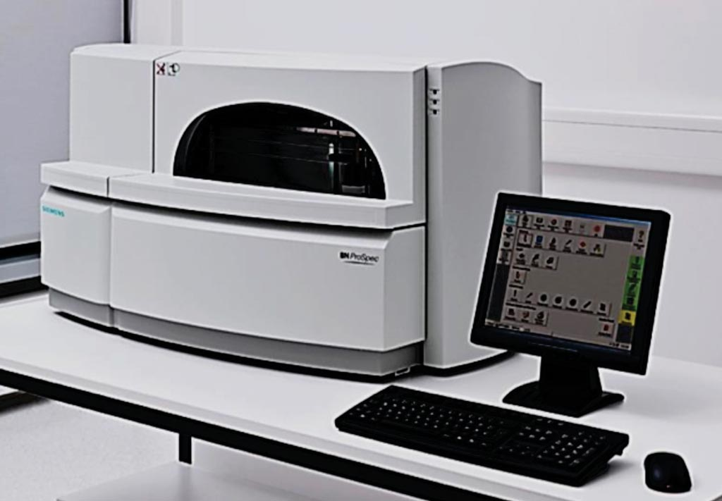 Image: The BN Prospec System for particle enhanced immuoturbidimetric methodology (Photo courtesy of Siemens Healthineers).