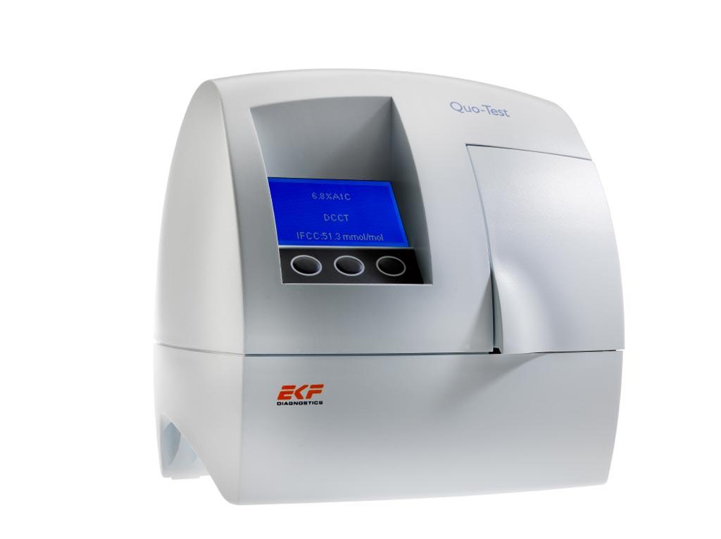 Image: The Quo-Test analyzer (Photo courtesy of EKF Diagnostics).