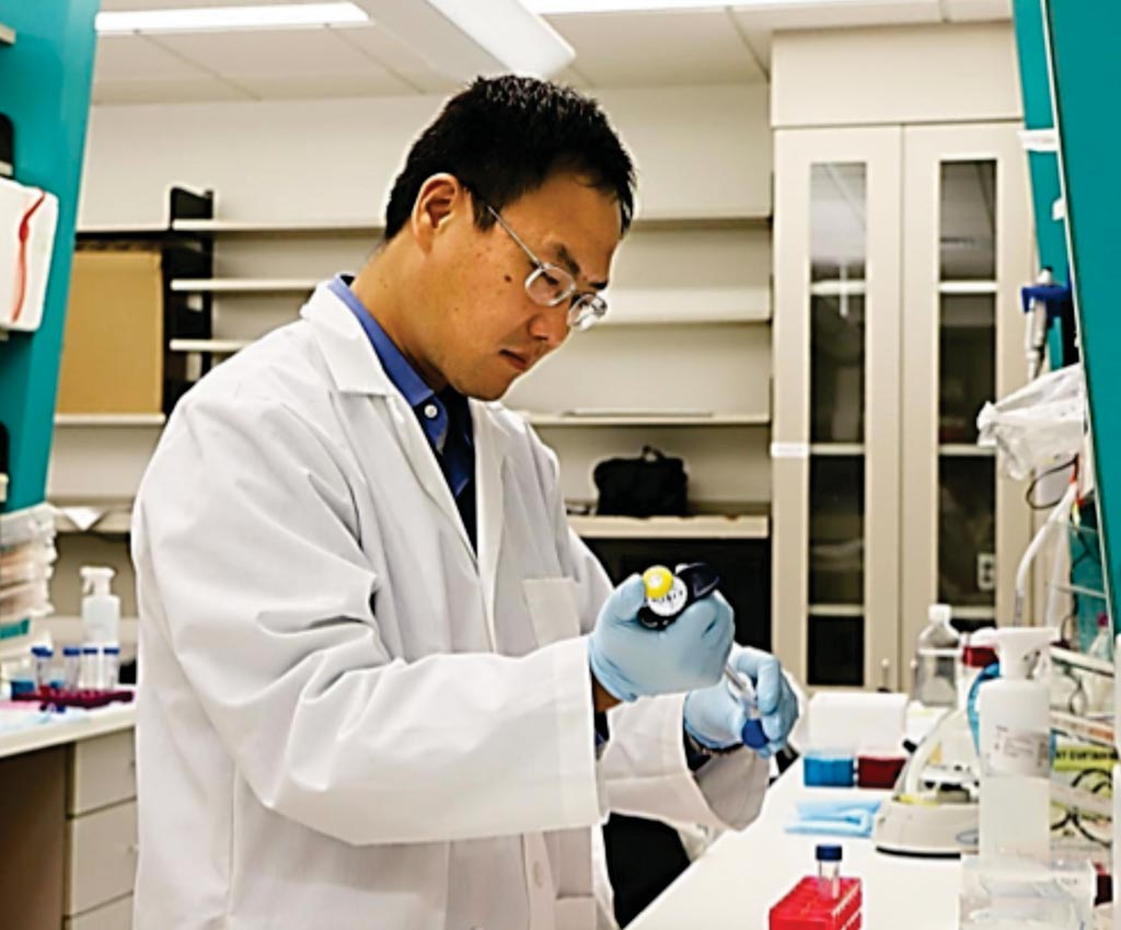 Image: Dr. Xiang Zhang implementing the bone-in-culture array, a platform to model early-stage bone metastases and discover the fate of cancer cells (Photo courtesy of Baylor College of Medicine).