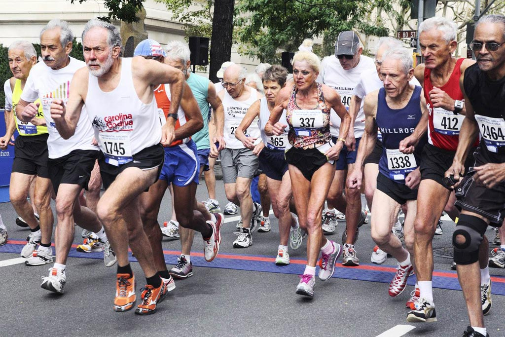 Image: Research suggests a combination of routine blood analytes can predict improvement or decrease in the fitness of older marathoners (Photo courtesy of Today).