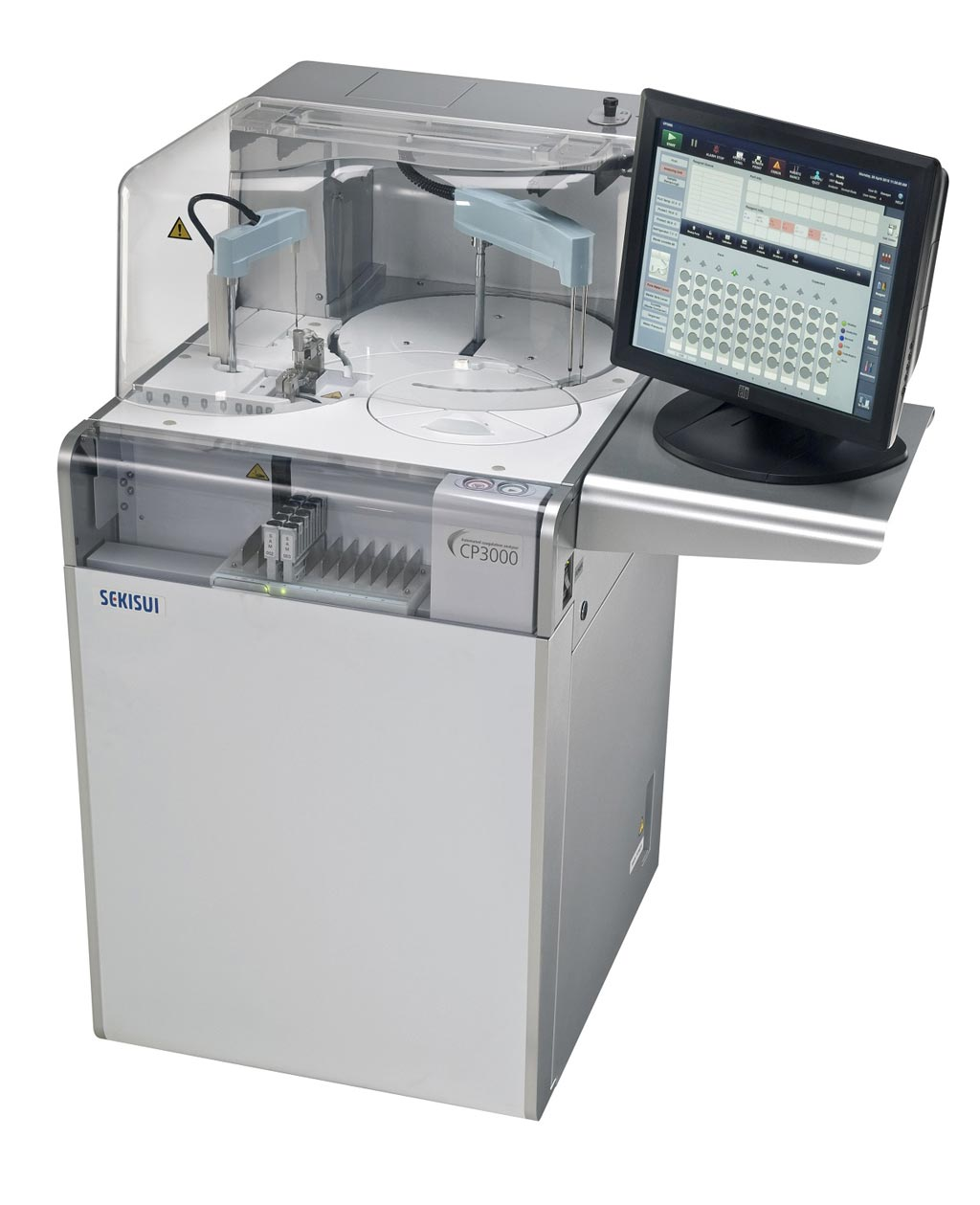 Image: The Sekisui CP3000 automated coagulation system seamlessly integrates with Abbott's suite of informatics solutions (Photo courtesy of Abbott).