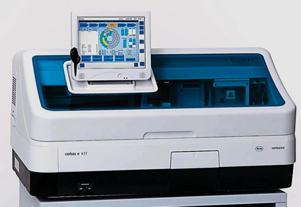 Image: The cobas e 411immunoassay analyzer (Photo courtesy of Roche Diagnostics).