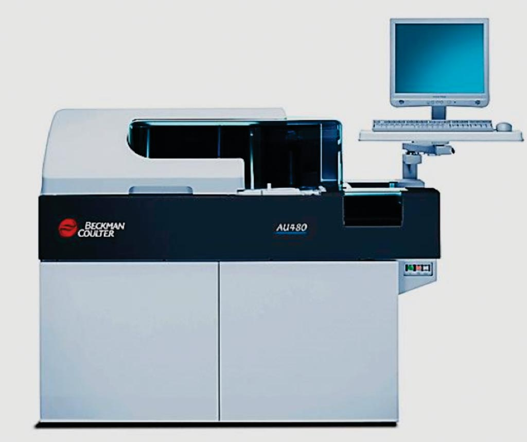 Image: The AU480 is the ideal main clinical chemistry analyzer for small- to medium-sized laboratories (Photo courtesy of Beckman Coulter).