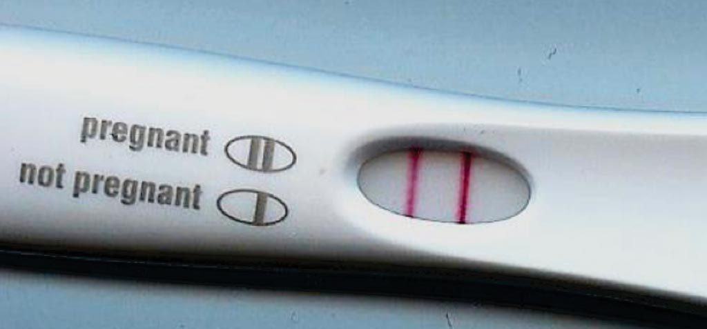 Image: A positive pregnancy test; Women with test results indicating low ovarian reserve were no less likely to conceive within six or 12 months of attempts than women whose laboratory tests did not point to a limited egg supply (Photo courtesy of News Health Advisor).