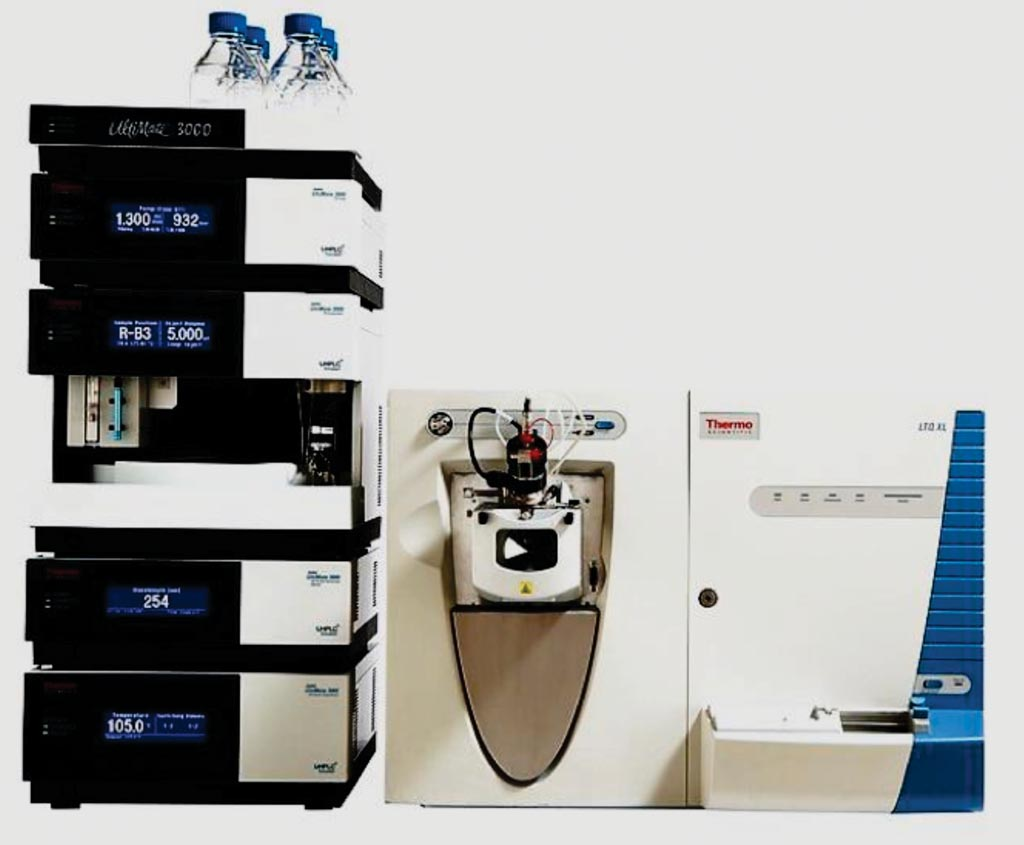 Image: The LC UltiMate 3000 high performance liquid chromatography (HPLC) system coupled with an LTQ Velos Pro mass spectrometry system (Photo courtesy of Thermo Fisher Scientific).