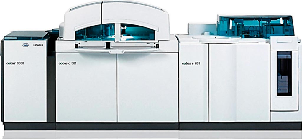 Image: The Cobas 6000 modular analytical system (Photo courtesy of Roche).