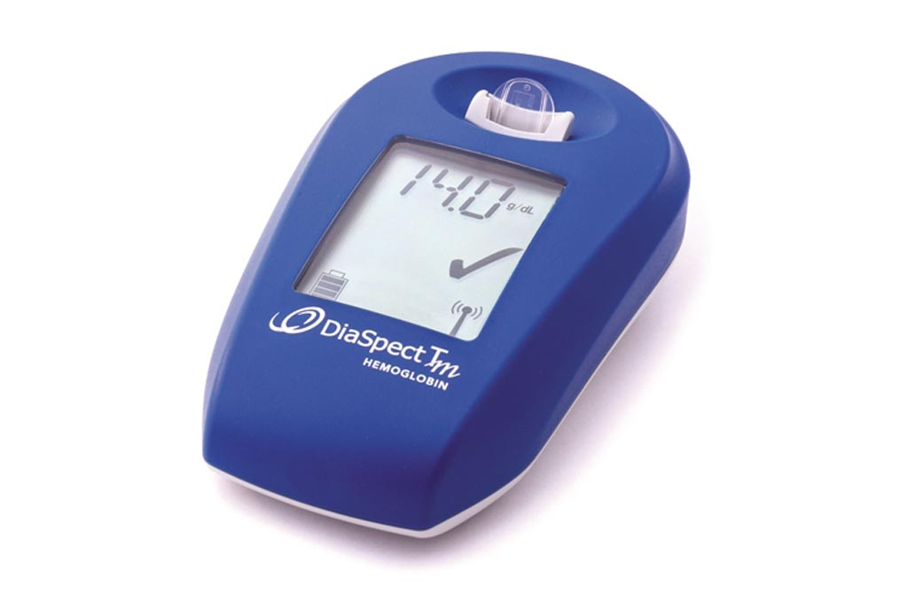 The DiaSpect Tm hemoglobin analyzer (Photo courtesy of EKF Diagnostics).