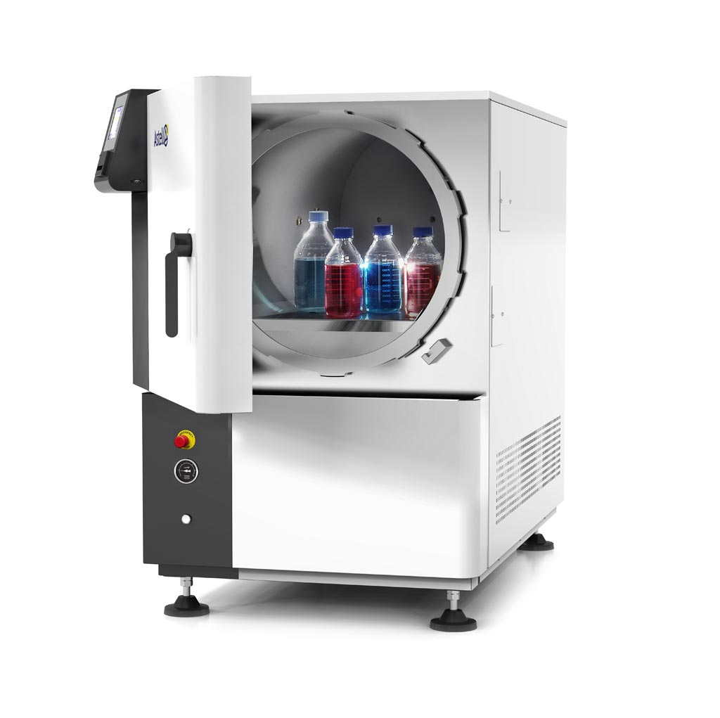 A front-loading, 33-liter benchtop autoclave (Photo courtesy of Astell Scientific).