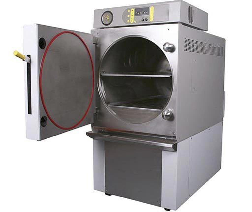 Image: The QCS EH100 front-loading steam sterilizer (Photo courtesy of Priorclave).
