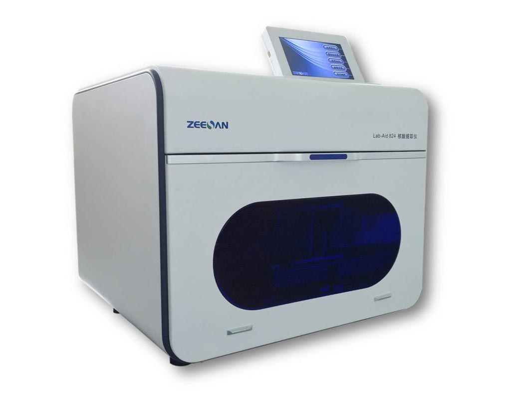 Image: The Lab-Aid 824 nucleic acid extraction system (Photo courtesy of Zeesan Biotech).