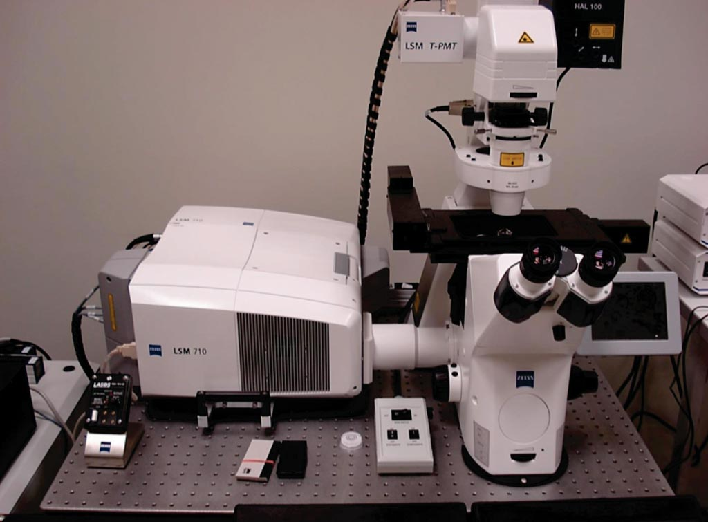 Image: The LSM 710 confocal microscope (Photo courtesy of Carl Zeiss).