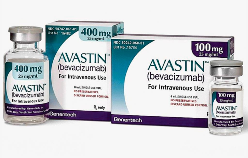 Image: Bevacizumab (Avastin) is approved for immunotherapy use in metastatic renal cell carcinoma, glioblastoma, non-squamous non–small-cell lung cancer, and metastatic colorectal cancer, and cervical cancer (Photo courtesy of Genentech).