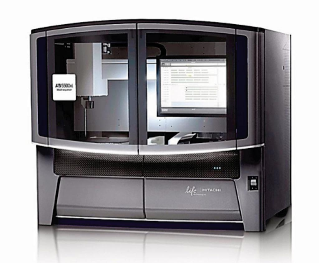 Image: The 5500xl SOLiD genetic analyzer (Photo courtesy of Life Technologies).