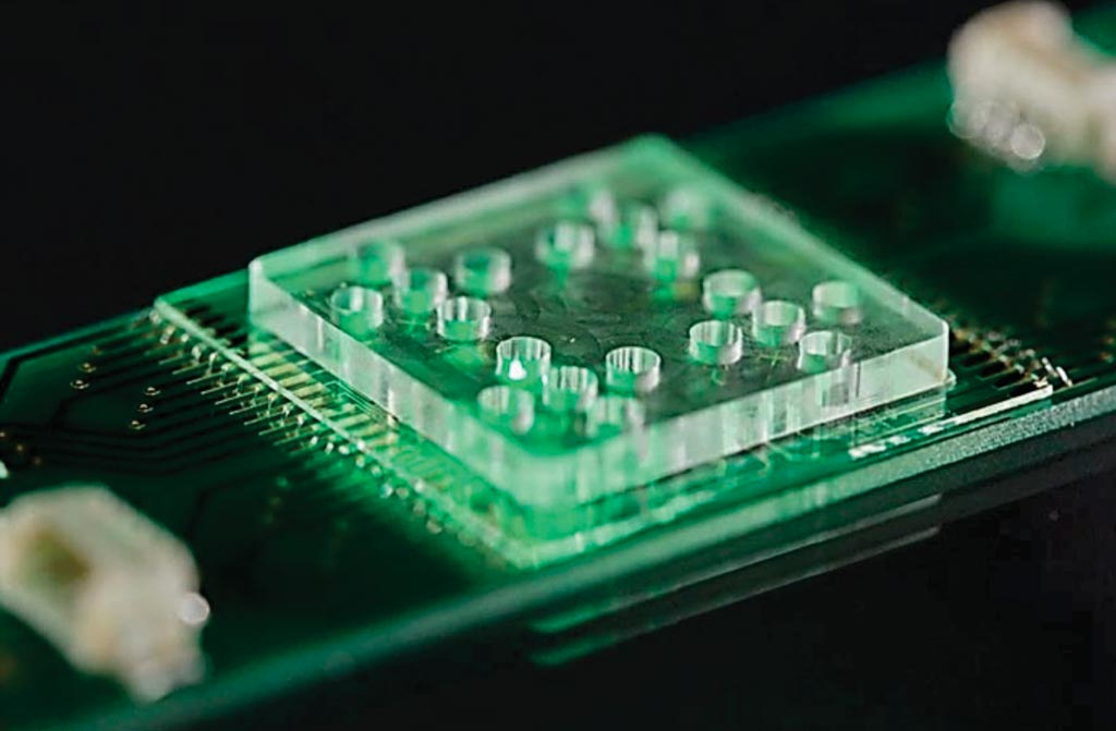 Image: The Lab-on-a-Chip system used with Raman spectroscopy to identify antibiotic resistance (Photo courtesy of Leibniz-Institute of Photonic Technology).