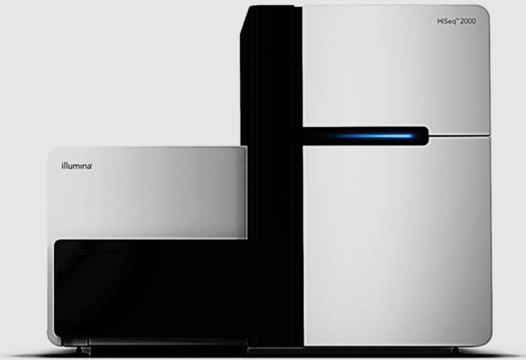 Image: The HiSeq2000 instrument used for whole-genome sequencing targeted resequencing, gene expression level detection, DNA methylation profiling, de novo sequencing, metagenomic studies, and ChiP-seq (Photo courtesy of Illumina).