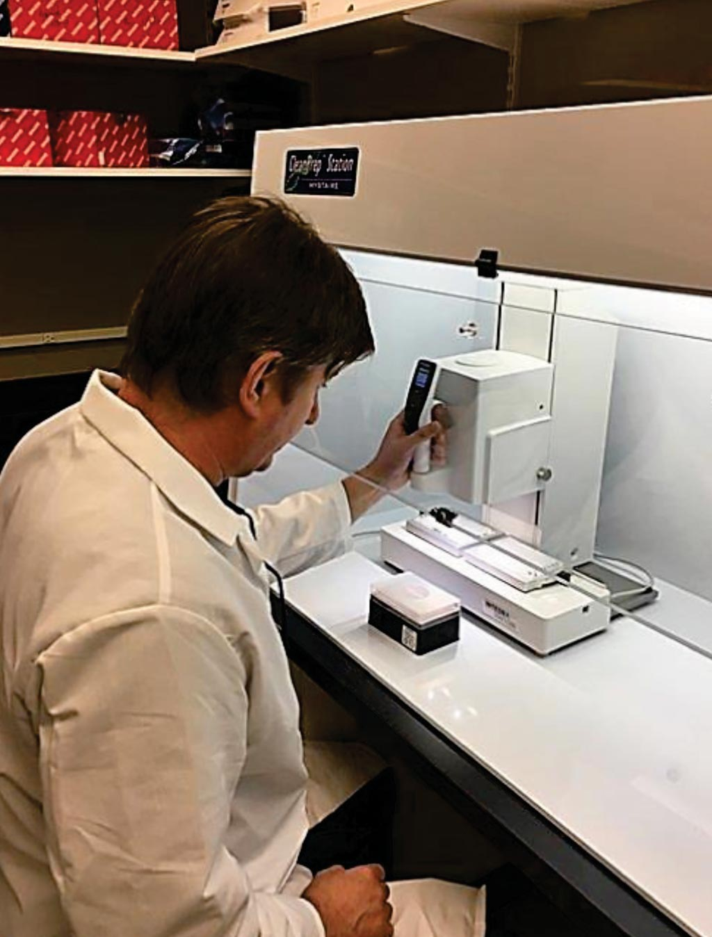 Image: A senior medical laboratory scientist conducting the IsolateFibromyalgia blood test (Photo courtesy of IquityLabs).