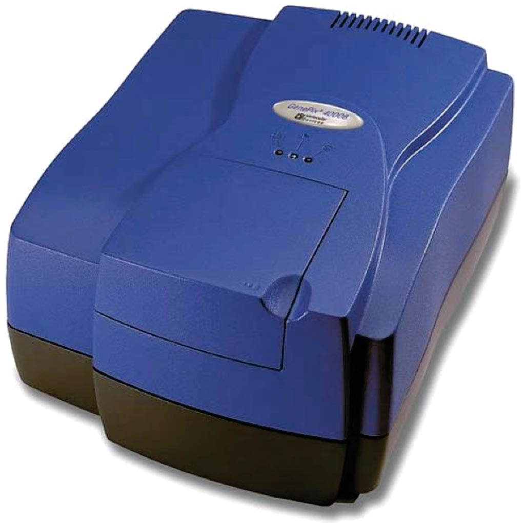 Image: The Genepix 4000B microarray scanner (Photo courtesy of Molecular Devices).