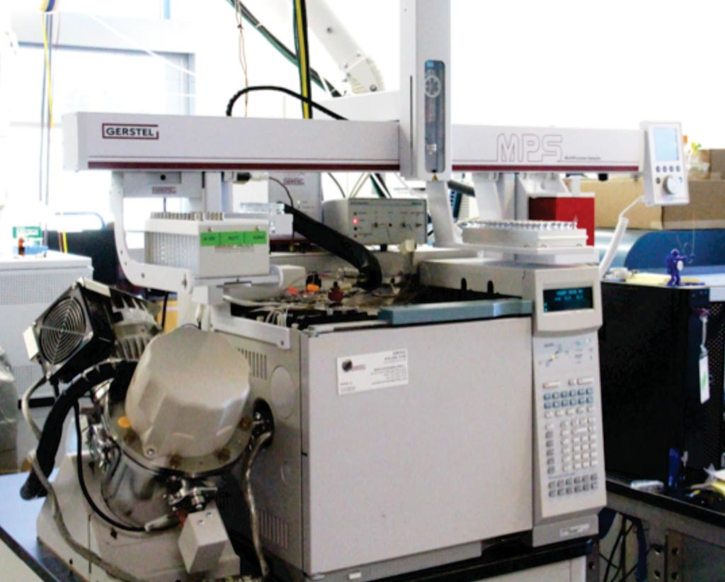 Image: The Gerstel MPS gas chromatography time-of-flight sampler instrument (Photo courtesy of West Coast Metabolomics Center).