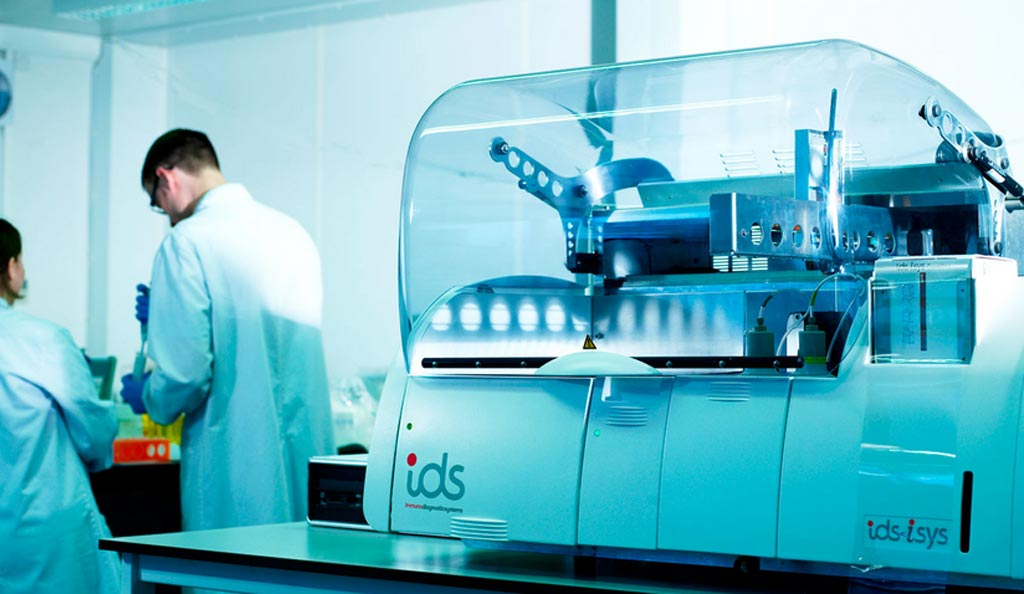 Image: The IDS-iSYS multi-discipline automated system (Photo courtesy of Immunodiagnostic Systems).